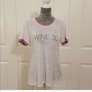 NWOT Nation LTD Graphic Tee — Wine :30